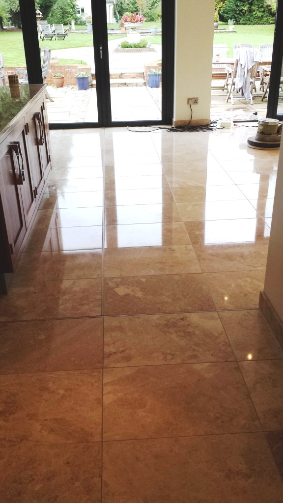 Scratched Marble Tiled floor Polished in Olney