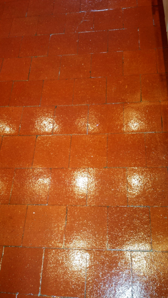 Dirty Quarry Tiled Floor in Hitchin