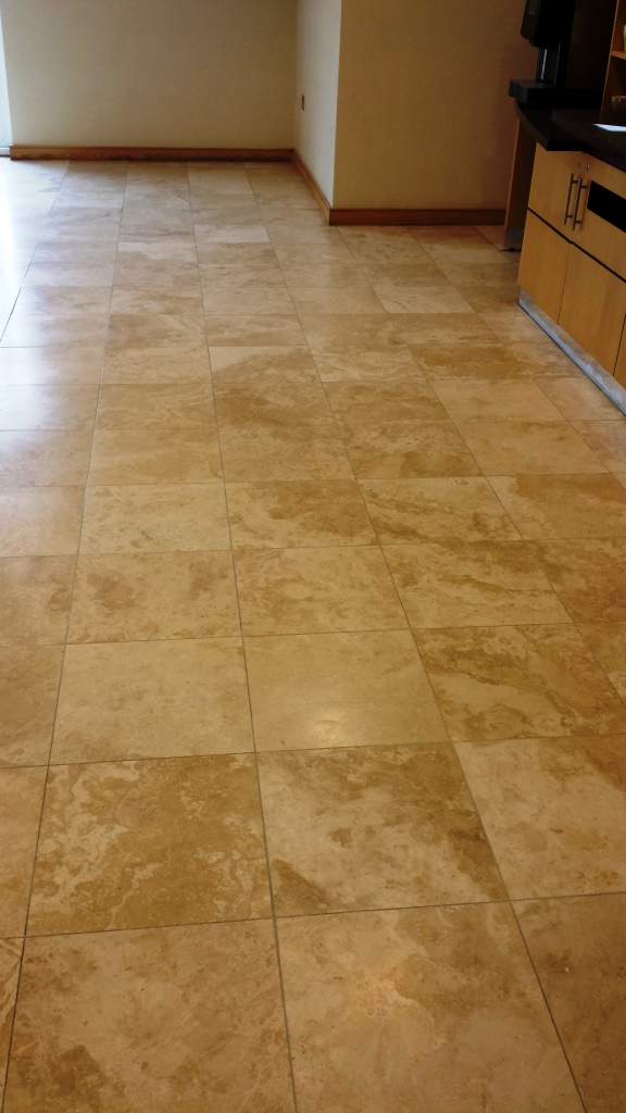 Deep Cleaning Dirty Travertine Tiles at Cranfield University Hotel