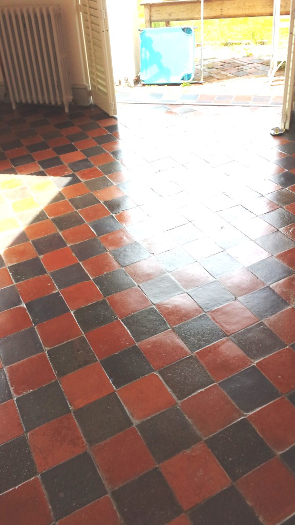 Victorian Quarry Tiled Floor Refreshed in Bedford