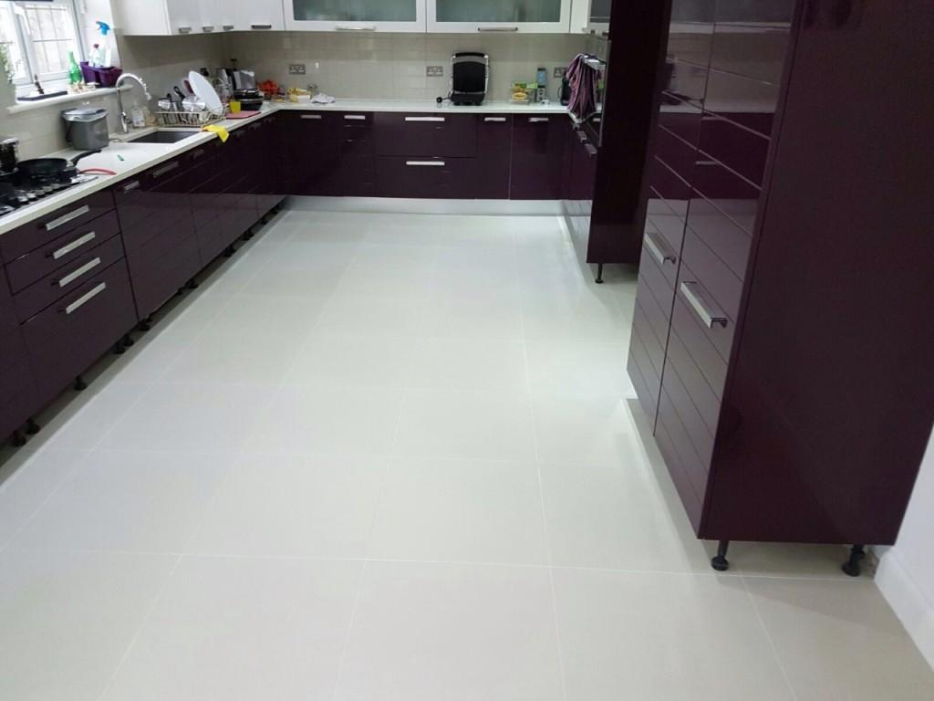 Re Tile Kitchen Floor Tile Cleaning And Grout Re Colouring Of A Porcelain Tiled Kitchen
