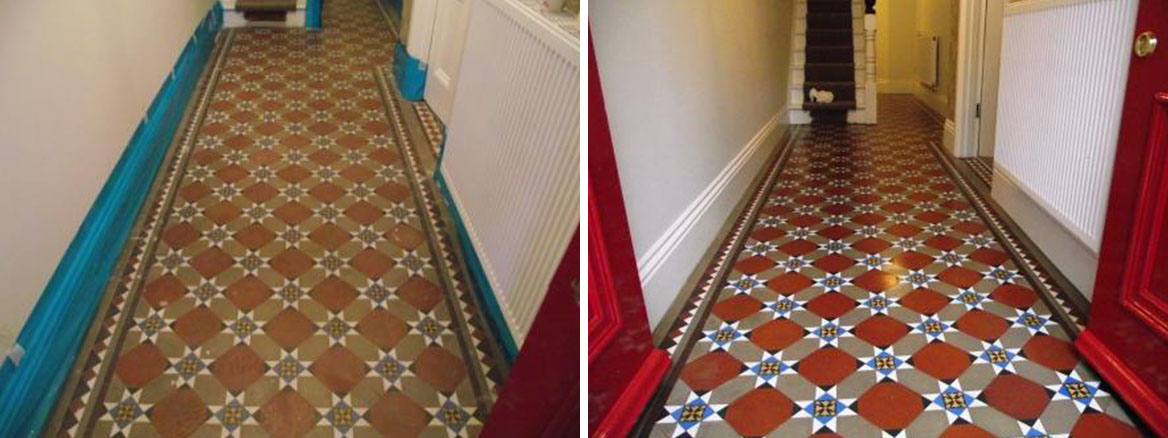 Victorian Floor Hallway Before and After