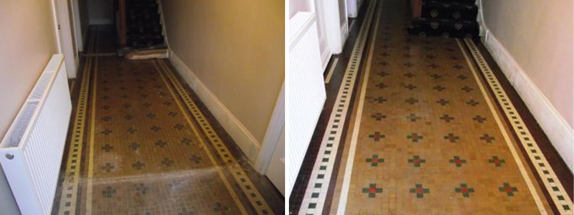 Victorian Floor in Luton Before and After